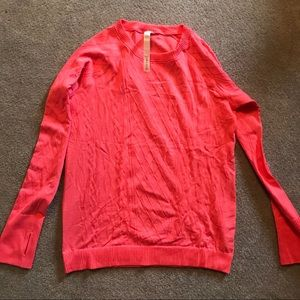 Lululemon size 12 pink long sleeve shirt